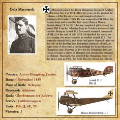 Pilots biographies - Hit and Run set Biography Text, Plane And Pilot, First Knight, Private Pilot, Flying Ace, Wright Brothers, Austro Hungarian, Fighter Pilot, Hungary