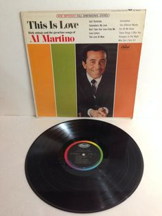 Al Martino This Is Love Rich Strings And The Great Love Songs Of Al Martino Vintage Vinyl Record Album lp 1966 Capitol Records ST 2592 by NostalgiaRocks
