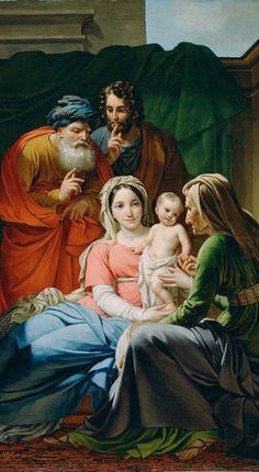 LA SAGRADA FAMILIA, CON LOS ABUELOS DE JESÚS, SANTA ANA Y SAN JOAQUÍN