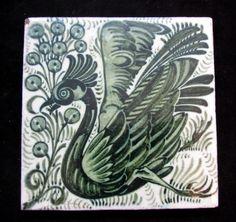 William De Morgan Bird Tile William Morris Art, Victorian Tiles, Art Nouveau Tiles, Arts And Crafts Movement, Tile Art, Antique Glass, Art Decor, Mandala, Tapestry