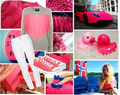 """""""we're all pretty in pink"""" by capris-outfits on Polyvore"""