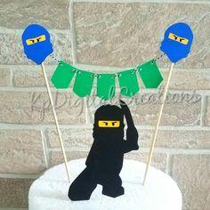Ninja go cake topper, Ninja cake topper, Ninja birthday - Trend Lego Train 2020 Ninja Birthday Cake, Ninja Cake, Ninja Birthday Parties, Birthday Cake Toppers, Birthday Ideas, 7th Birthday, Lego Ninjago Cake, Ninjago Party, Lego Cake