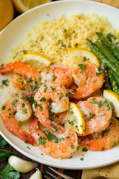 Garlic Lemon Butter Shrimp - Cooking Classy