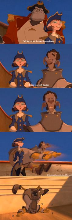 Treasure planet one of the funniest moment