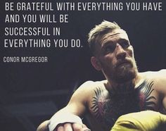 conor mcgregor | Attitude of GRATITUDE