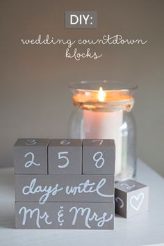 11. It's the final countdown What could be a better present for a blushing bride-to-be than these homemade wedding countdown blocks?