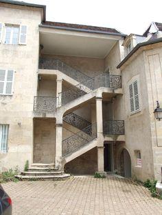 Escaliers, Hôtel Rigollier de Parcey, Dole - Jura