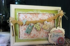 distressed with springtime colors
