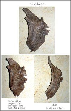 Le blog de boisflottesdeloire - Sculptures naturelles - Yann Viau, diablotin, imp, gremlin, applique murale, bois flotté, driftwood, schwemmholz, cire, wax, loire,