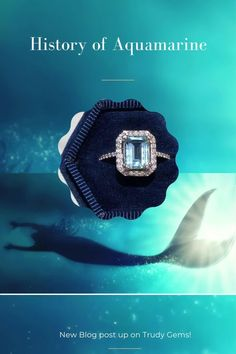 Check out this real mermaid treasure! Learn about the history of aquamarine. Real Mermaids, Raw Gemstones, Designer Engagement Rings, Wedding Tips, Custom Jewelry, Perfect Wedding, History, Diamond, Simple