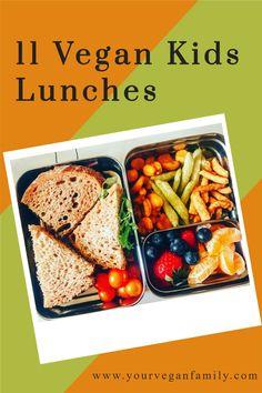 Vegan School Lunch Ideas For Kids, Healthy School Lunches, Vegan Lunches, Cold Lunch Recipes, Cold Lunches, Vegetarian Meals For Kids, Vegetarian Recipes, Vegan Recepies, Cheap Vegan Meals