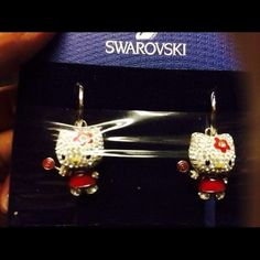 SWAROVSKI HELLO KITTY LOLLIPOP EARRINGS! Brand New Have here a beautiful Pair of Swarovski Hello Kitty Lollipop Earrings. Comes with box.   Feel free to ask any questions. Open to offers:) Swarovski Jewelry Earrings