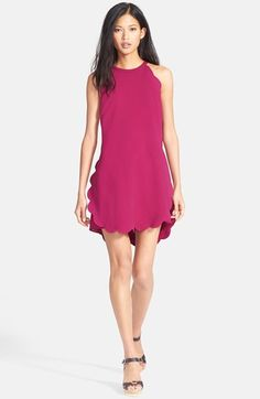 A.L.C. 'Alexis' Sleeveless Scallop Hem Crepe Dress available at #Nordstrom