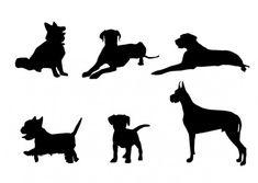 63 best dog silhouettes images on pinterest dog logo design pet