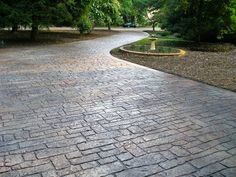 I would like to get rid of the cement driveway and have a stamped concrete one put in! We have this on our patio and looks great.