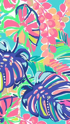 Lilly Pulitzer, Tropical, Pattern, Leaves, Floral