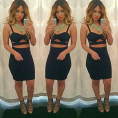 hot outfit, vegas outfit, night out, hot dress, all black everything, sexy dress, vegas dress, party outfit