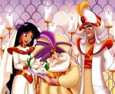 Aladdin & Jasmine - the royal Wedding by *selinmarsou on deviantART