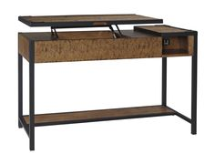 Kalean Contemporary Two Tone Wood Metal Home Office Lift Top Desk