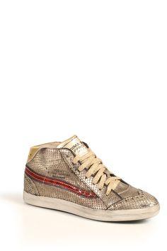 PRIMABASE Sneaker mit goldenem Snake-Muster bei myClassico Online Shop für TOP-Fashion