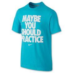 9f0a8056b368 Kids  Nike You Should Practice T-Shirt