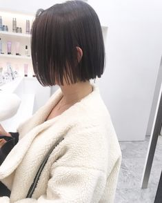♡ pinterest: @kimmiecla ♡ New Haircuts, Bob Hairstyles, Short Hair Cuts, Short Hair Styles, One Length Bobs, Blunt Haircut, Mullet Hairstyle, Hair Images, Summer Looks