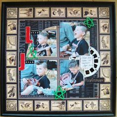 Graphic 45 Curtain Call scrapbook layout