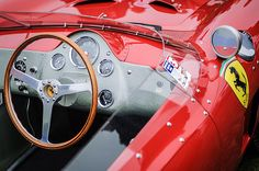 1962 Ferrari 196 Sp Dino Fantuzzi Spyder Steering Wheel - Car photographs  by Jill Reger