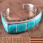 Silver Turquoise Jewelry Opal Inlay Cuff Bracelet