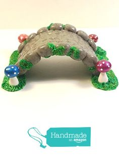 Cobblestone Bridge with Mushrooms. Bring home this adorable fairy garden cobblestone bridge with mushroom. It will add a charm to your already charming garden that the fairies can't help but visit! Polymer Clay Fairy, Polymer Clay Crafts, Fairy Village, Fairy Garden Furniture, Kobold, Clay Fairies, Fairies Garden, Fairy Crafts, Fairy Garden Accessories