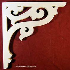 Artículo # B-99 Victorian Porche Soporte El Woodshop Victorian http://victorianwoodshop.com