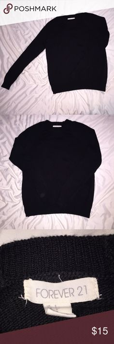 ☃SWEATER☃ All black, forever 21 sweater! Never worn before size small! Forever 21 Sweaters Crew & Scoop Necks