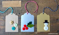 Button Gift Tags for a Fun Kids Craft