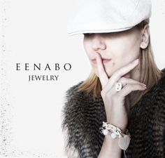 White Faceted Agate Stone and Japanese Sakura Bead by EENABO, $69.00