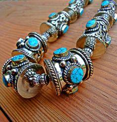 Türkis Halskette-Böhmische Türkis Schmuck-blau Türkis Lätzchen Halskette-Türkis Bague-Türkis Stein Bijox-Türkis Halskette