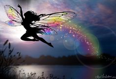 Faery of the Rainbows - by Liza Lambertini. Click for The Legend of the Rainbow.