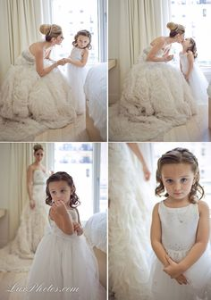 Mother and daughter wedding poses