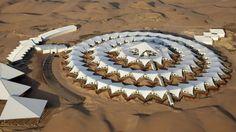 A Gobi Desert Hotel Designed to Float on Sand