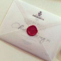 Invitation Emilio Pucci for Fashion Show #Envelope #Luxury