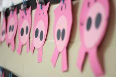 Pig craft in kindergarten