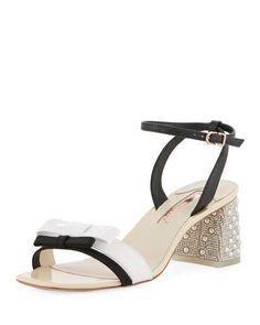 72a595887e9 Sophia Webster Andie Mid-Heel Ankle-Wrap Sandal Work Pumps