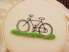 bicycle - love the grass
