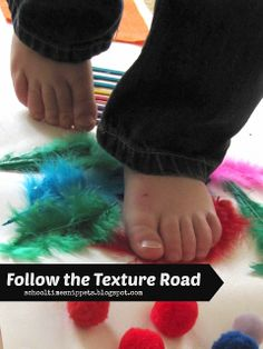 Follow the Texture Road-- great way to incorporate sensory play & build on language