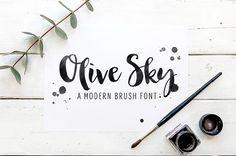 Modern brush font - Olive Sky  by skyladesign on Creative Market