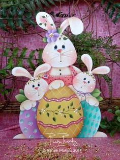 """#707 """"Happy Easter Trio""""  (PATTERN)"""