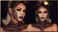 This is my Steampunk look inspired by the new Machinist collection that NYX Cosmetics were kind enough to send me! Nyx Glitter Eyeliner, Dark Eyeshadow, Steampunk Makeup, Steampunk Halloween, Sfx Makeup, Beauty Makeup, Everyday Steampunk, How To Apply Blush, Character Makeup