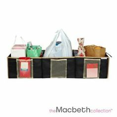 The Macbeth Collection Collapsible Trunk Organizer by Kennedy. $19.99. Adds glamor to your life. Made from 600D fabric for loner use. Wipes clean with a damp cloth. Great for keeping that clutter out of sight. Assembles with ease. Make a fashion statement with these Printed storage accessories by The Macbeth Collection. Glamorfy your life and all your storage needs. It assemlebles with ease and now with 600D fabric its gauranteed to last even longer. Wipes clean with a damp...