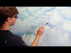 How To Paint Clouds - Mural Joe - YouTube