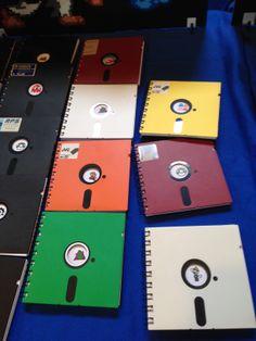 """Libretas con tapa de Floppy de 5¼"""""""