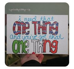 One Thing- One Direction